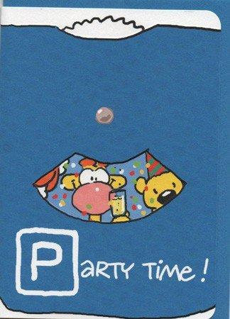 Geburtstagskarte Party Time - wie lustige Parkscheibe