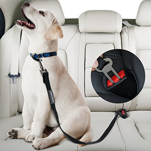 Pet Seat Belt >> Omorc Dog Seat Belt 2 Pack 19 27 Inch Adjustable Dog Harness Pet Car Vehicle Seatbelt Pet Safety Leash Leads For Dogs Cats Nylon Fabric Material