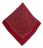 Rotes Nickituch mit Punkten | Bandana aus 100% Baumwolle | 53 x 53 cm | Halstuch | Teichmann