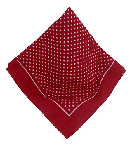 Teichmann Rotes Nickituch mit Punkten | Bandana aus 100{4b0f642f4798841b8a35e795bac39cc45b90d0f4b67b6e4c2d8bc4b07295fbe2} Baumwolle | 53 x 53 cm | Halstuch