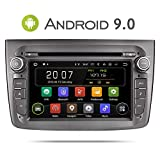 Aumume Android 9.0 Autoradio GPS DVD pour Alfa Romeo Mito Navigation de Voiture Ecran Tactile supporte Bluetooth Mirrorlink Carplay Dab+ Commande au Volant (avec Carte de 16 Go)