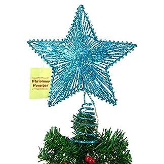 CHRISTMAS CONCEPTS® 10″ Springy Star con Luces LED – Estrella de árbol de Navidad/Decoración navideña