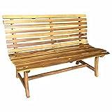 OUTLIV. Gartenbank Holz 2-Sitzerbank 144cm Akazie FSC Sitzbank ergonomisch Garten Balkon Terrasse Holzbank Massiv