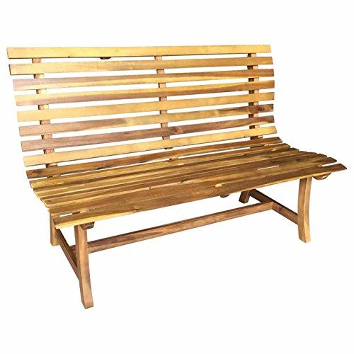 Gartenbank Holz OUTLIV. 2-Sitzerbank 144cm Akazie FSC Sitzbank Garten Balkon Terrasse Holzbank massiv