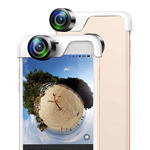 Usams 360 Grado Panoramica Obiettivo della Fotocamera Professionale HD iPhone Telecamera Telefono Panorama Shot Lenti A Doppio per iPhone 7 / iPhone 8