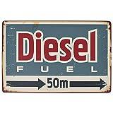 NOT Diesel Fuel 50m Blechschilder Warnschild Metallposter Eisen Kunst Retro Zeichen Promi Malerei Gebäude Garten Bauernhof Cafe Bar als Geschenk