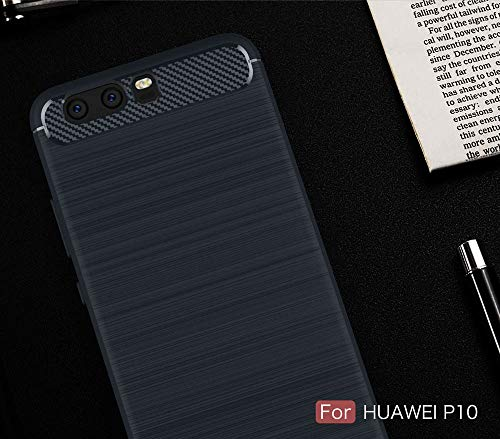 Saingace(TM) Schutzhülle fü Huawei P10, Dünn Hülle Carbon Fiber Hybrid Handyhülle Kratzfest Stoßfest Case Cover Anti-Rutsch Anti-Scratch Hülle für Huawei P10 -