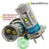 Wiseshe H7 3000k birne led lampen autolampe DC9-30v 3 Jahre Qualitätssicherung (Satz von 2) H7 6 led hohe Leistung warmes Weiß