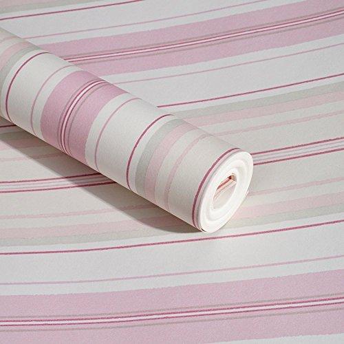 lovefaye Pink Linien selbstklebend Regalen Vinyl Kontakt Papier frischen Kommode Schubladen Beauty Case 45cm von 9.8Füße -