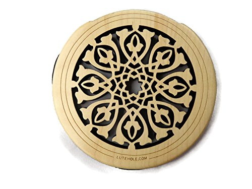 Acoustic Electric Nylon (New Lute Hole Soundhole Cover Acoustic Electric Guitar Feedback Buster #01 Maple)