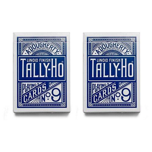 2-decks-of-cards-tally-ho-fan-back-blue-tally-ho-kartenspiel-zaubertricks-und-magie
