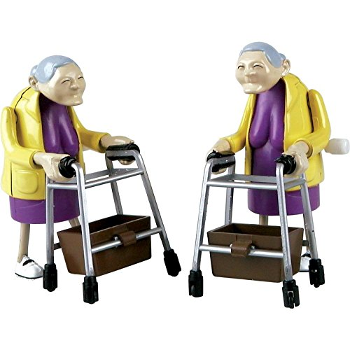 Rasende Oma mit Rollator im 2-er Pack