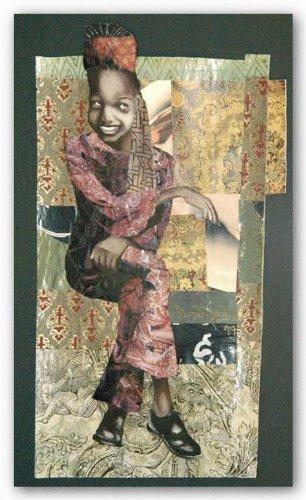 Original Collage (About You (Goldrahmen) (Original-Collage) von Bryan Collier Kunstdruck)