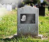 CHRISCK design Grabstein Gedenkstein aus hochwertigem Hochglanz Acrylglas (bruchsicher/wetterfest) Grabplatte mit Gravur/Fotogravur ab 20x15 cm cm Gedenktafel für Menschen Andenken Außenbereich - 6