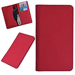 DCR Pu Leather case cover for Spice Smart FLO Pace 3 (MI-502N) (RED)