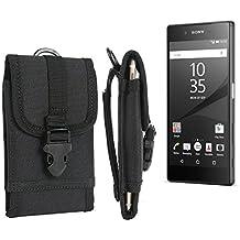 bolsa del cinturón / funda para Sony Xperia Z5, negro | caja del teléfono cubierta protectora bolso - K-S-Trade (TM)