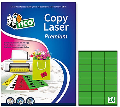 Tico lp4cv-7036etiquetas colores mate, 70FF, 70x 36, verde