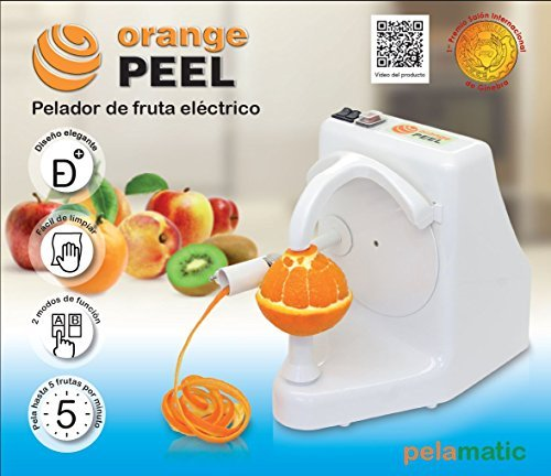 pelamatic Orange Peel Domestica–Electrical Peelers (Universal Electric Peeler, Freestanding, white, metal, AC, 24W)