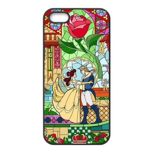 TPU Étui Coque Case Cover Pour iPhone 55S, Beauty And The Beast Étui Coque pour iPhone 5S, Soft coque en silicone skin Housse Coque Shell de protection pour iPhone 55S