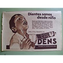 Antigua Hoja Publicidad - Old Sheet of Advertising : DENS - Perfumeria Gal