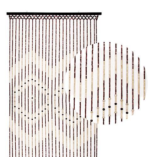 Kersten Vorhang Perlenvorhänge Türvorhang Balkonvorhang Bambus Perlenvorhang Perlen (Modell 2 (Cornelia))