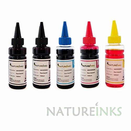 500 ml Natureinks Universal-Nachfülltinte (200 ml x Schwarz, 100 ml x Cyan, 100 ml x Magenta, 100 ml x Gelb) für CISS oder nachfüllbare Kartuschen - 500ml Tinte Magenta
