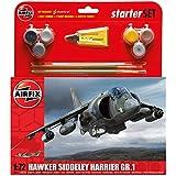 Airfix 1:72 Hawker Harrier GR1 Starter Aircraft Model Set (Medium)