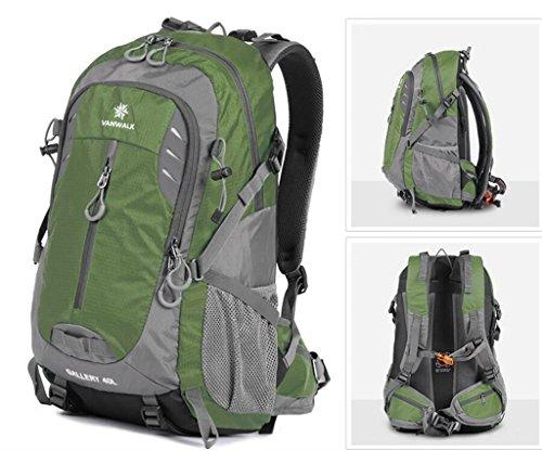 Outdoor-Freizeit Sporttasche Männer und Frauen Bergsteigen Tasche mit großer Kapazität Beutel-Spielraum-Rucksack Armeegrün