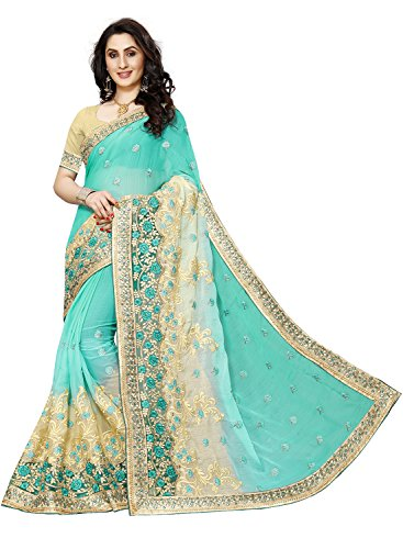 Sunshine Fashion Women's Designer Saree With Blouse Piece (SUNSA2421_FB)