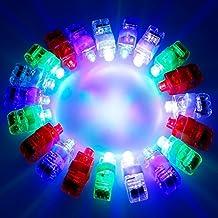 luces LED dedo,20x Worsendy LED Dedo Luces Dedo Iluminación Del Juguete Juguete Fiesta Favor Suministros Novedad Deslumbrante Juguetes
