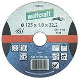 Wolfcraft 1688999 1 Disque à Tronçonner La Pierre Ø 125 Mm Épaisseur de Disque 16 Mm Alésage Ø 222 Mm Version Droite en 12413