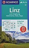 Linz und Umgebung, Mühlviertel, Wels, Steyr: 2 Wanderkarten 1:50000 im Set inklusive Karte zur offline Verwendung in der KOMPASS-App. Fahrradfahren. Langlaufen. (KOMPASS-Wanderkarten, Band 202) -