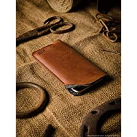 iPhone Xs, Xr, Xs Max case/sleeve/wallet, brown, unique handmade Crazy Horse leather cell phone case, wool felt, iPhone X/8/7/6/6s/SE, Samsung Galaxy S10, S10 plus, S9, S8 case, Crazy Horse Craft