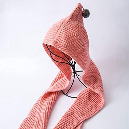 SHMAYU Eltern-Kind-Herbst und Winter Mütze warme Kinder Strickschal Schal Mütze eine Haut Pulver