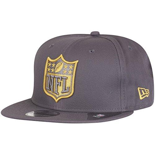 New Era 9Fifty Snapback Cap - NFL Shield graphit / gold S/M