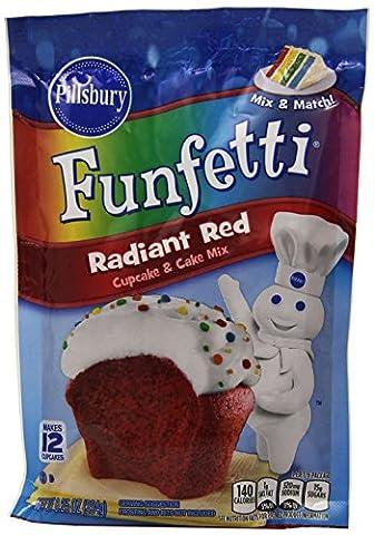 PILLSBURY FUNFETTI RADIANT RED CUPCAKE & CAKE MIX 234g POUCH