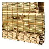 CHAXIA Tenda di bambù Tapparella Avvolgibile Tenda Sospesa Blinds Cieco Romano Impermeabile Protezione Solare Facile da Pulire, Dimensioni Multiple (Color : A, Size : 120cmx220cm)