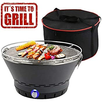 bakaji barbecue de table portable charbon sans fum e ventil diam tre 40 cm avec port usb. Black Bedroom Furniture Sets. Home Design Ideas