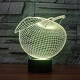 Kreative 3D Apfel Nacht Licht 7 Farben Andern Sich USB Adapter Touch Schalter Dekor Lampe Optische Täuschung Lampe LED Lampe Tisch Kinder Brithday Weihnachten Geschenke