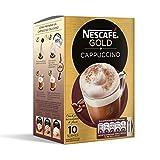 Nescafé Cappuccino - Café Soluble Natural - 3 Paquetes de 10 Sobres - Total: 30 Sobres