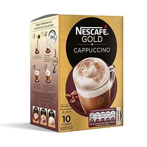 Nescafé Café Cappuccino Caja de sobres de café - 10 sobres de 14 gr