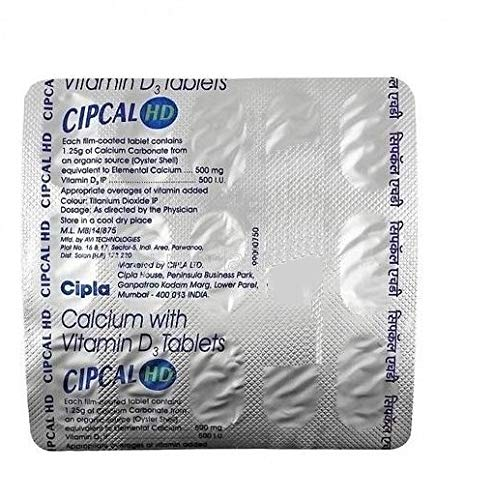 CIPCAL HD Tablets Calcium with VitaminD3