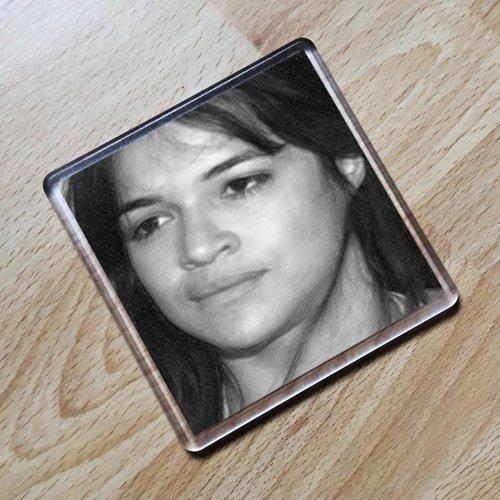 MICHELLE RODRIGUEZ - Original Art Coaster #js003 (Michelle Rodriguez-foto)