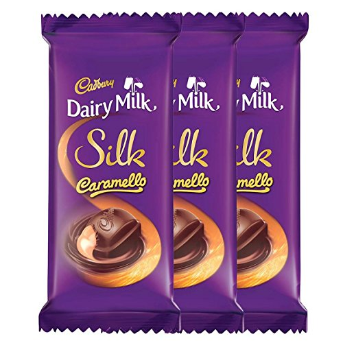 Cadbury Dairy Milk Silk, Caramello, 136g (Pack of 3)