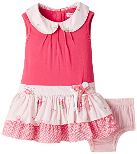 Nauti Nati Baby Girls' Dress (NSS15-84_Fuschia_6 - 12 months)