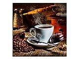Kaffee Bohnen Bilder Leinwandbilder Wandbilder Foto auf Leinwand A05532 Größe 50 x 50 cm