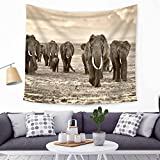 Hippy Indian Mandala Bohemian Elephant Tapestries Throw Gypsy Cover Bedding Psychedelic Wall Hanging Room Décor Wall Collage Dorm Beach Bedroom Throw Tapestries (HYC21)