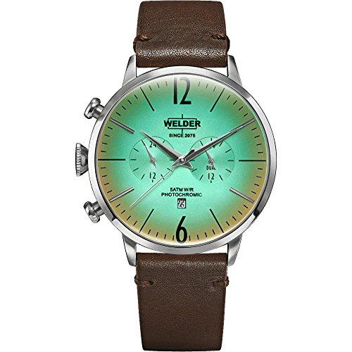 WWRC302 Welder Moody - Reloj para hombre con correa de piel y caja en acero.