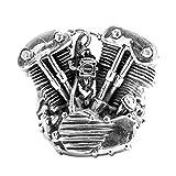 Bishilin Uomo Anello da Uomo 925 Argento Sterling Locomotiva Motore Anello di Amicizia Vintage Argento per Uomini Misura 24