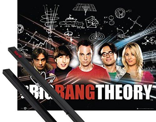1art1® Poster + Suspension : The Big Bang Theory Mini Poster (50x40 cm) Tableau Et Kit De Fixation Noir